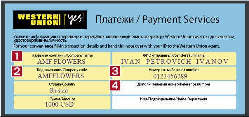 Service Paysm Union® Western Delivery Flowers – Amf quick International Payment Network