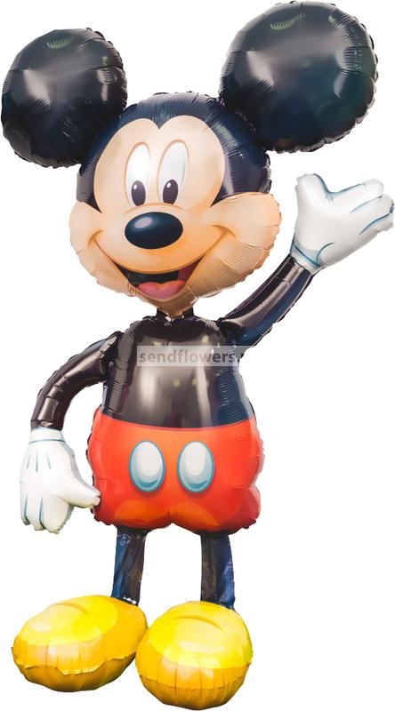 Фото фигурки из воздушного шарика Микки Маус