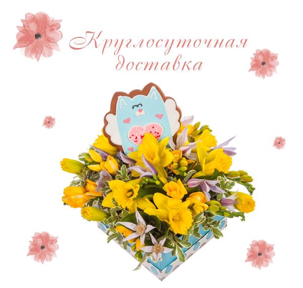 Фото доставленной подарочной коробки на 8 марта