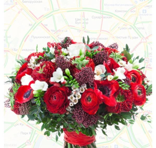 Фото на тему доставки цветов по Москве