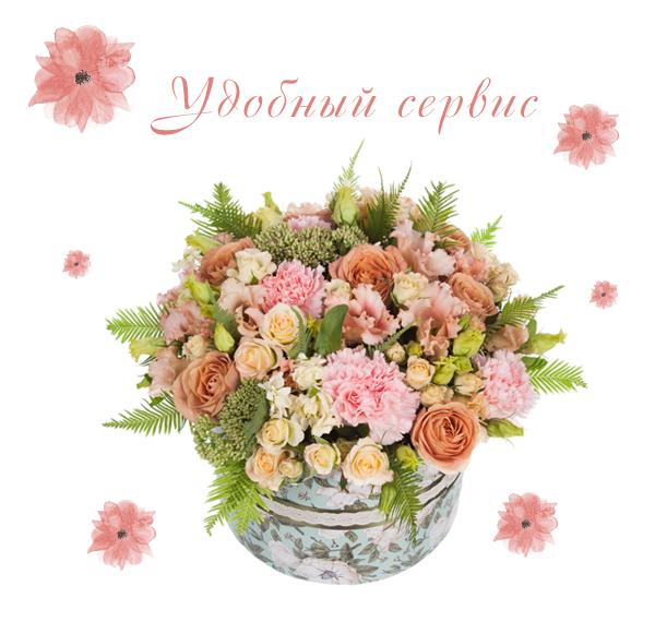 Фото доставленной композиции из цветов в коробке