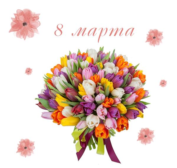 Фото купленных тюльпанов на 8 марта