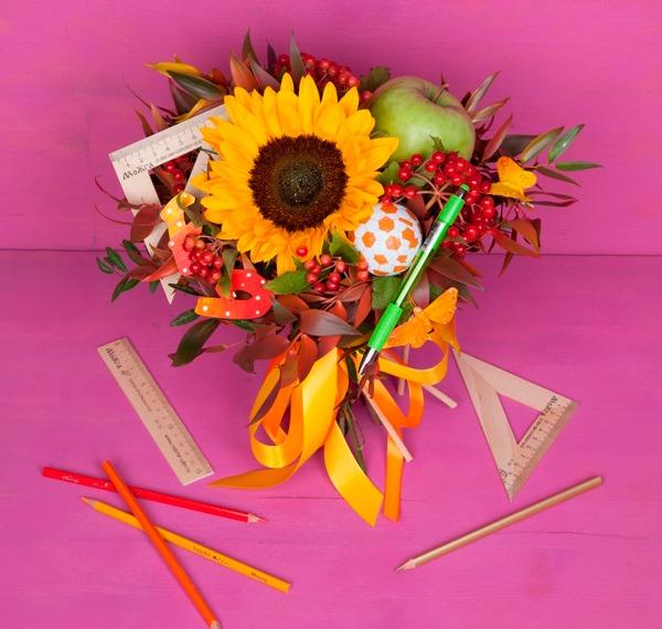 Какой букет купить на 1 сентября первокласснику фото, магазин цветов красноармейская