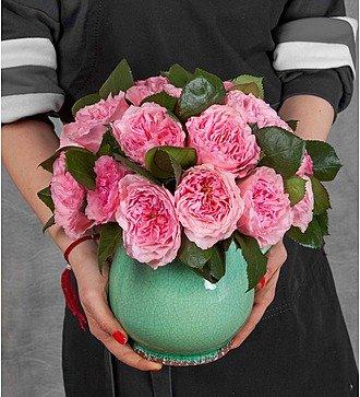 """Композиция из пионовидных роз """"Mayras Rose"""""""
