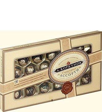 """Шоколадные конфеты """"Коркунов"""". Вес - 190 гр."""