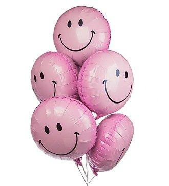 """Букет шаров """"Розовый смайл"""" (7 или 15 шаров)"""