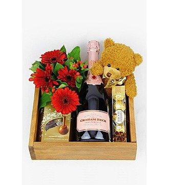 Подарочная корзина (шампанское/вино в подарок)