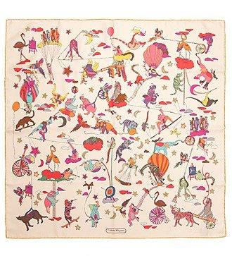 "Шелковый платок Salvatore Ferragamo ""Цирк "" (Италия, 65х65 см)"