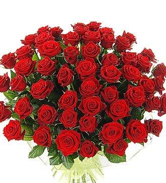 """Букет из 51 красной розы """"Больше, чем любовь..."""""""