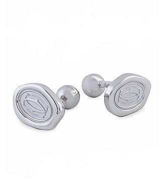 Запонки из серебра Cartier (Франция)