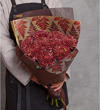 "Букет хризантем ""Цветок папоротника"" (5, 9 или 15)"