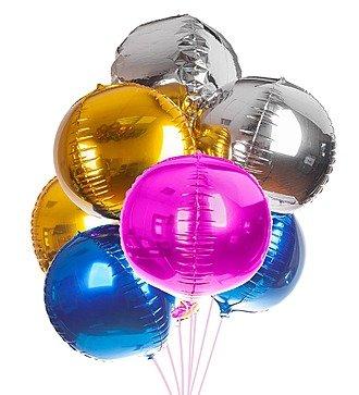 """Букет шаров """"Разноцветные сферы"""" (7 или 15 шаров)"""
