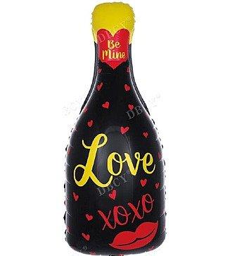 """Воздушный шар """"Бутылка Шампанского """"Love"""" (84 см)"""