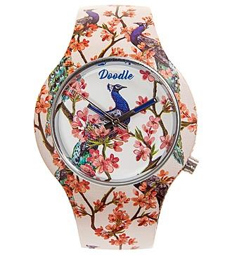 """Часы Doodle """"Павлины в саду"""""""