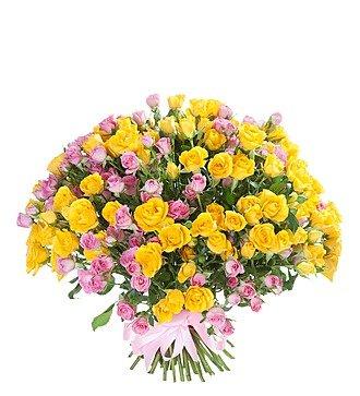 """Букет из кустовой розы """"Краски"""" (51 или 101)"""