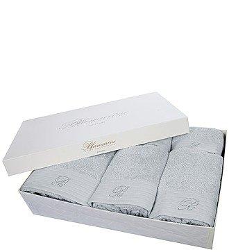 Подарочный набор из 5-ти полотенец+коврик для ванной Blumarine