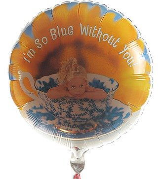 "Воздушный шар ""I'm so blue without you"" (46 см)"
