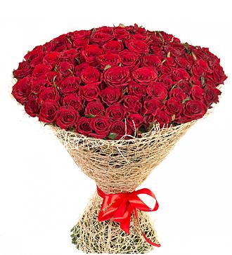 Букет из 125 красных роз