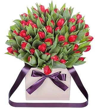 """Пионовидные тюльпаны """"Largo"""" в вазе"""