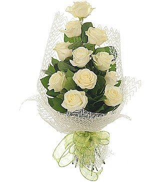 "Букет из 11 белых роз ""Мои комплименты..."""