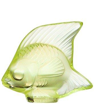 """Хрустальная статуэтка """"Рыбка"""" (св-желтый) (LALIQUE, Франция)"""