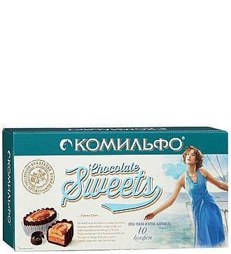 Комильфо, шоколадные конфеты, подарочная упаковка, 120 гр.