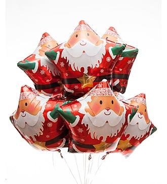 """Букет из 9 шаров """"Санта"""" (46 см)"""