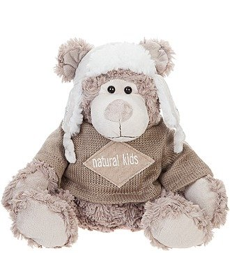"""Мягкая игрушка """"Мишка Кларк в шапке-ушанке и кофте"""" (20 см)"""