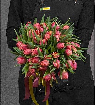 Букет из пионовидных тюльпанов Columbus (25, 51 или 101)