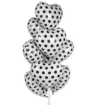 """Букет шаров """"Белые сердца"""" (9 или 18 шаров)"""
