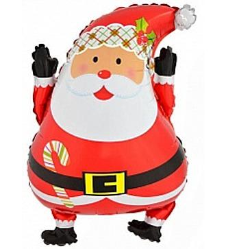 """Воздушный шар """"Весёлый Санта"""" (66 см)"""