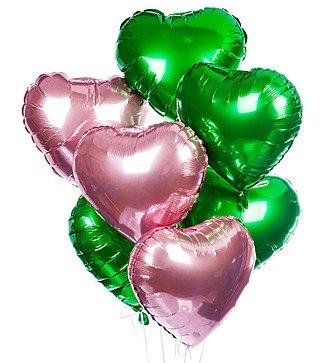 """Букет шаров """"Летние сердца"""" (7 или 15 шаров)"""