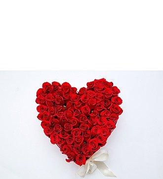 """Коробка с розами """"I LOVE YOU"""""""