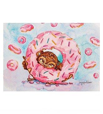 """Почтовая открытка """"Один кофе - один пончик"""""""