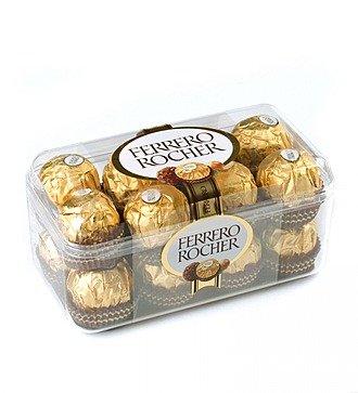 Шоколадные конфеты Ferrero Rocher подарочная упаковка, 200 г.