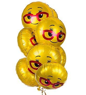 """Букет шаров """"Смайл в очках"""" (7 или 15 шаров)"""