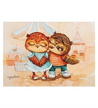 """Почтовая открытка """"Яркие чувства"""""""