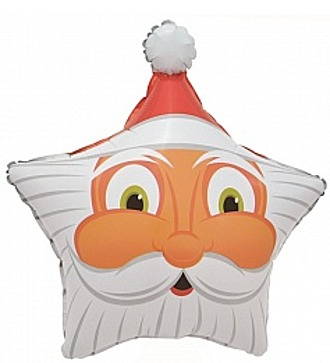 """Воздушный шар """"Санта"""" (48 см)"""