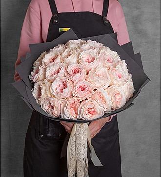 Букет пионовидных роз Tsumugi (15, 25 или 51)