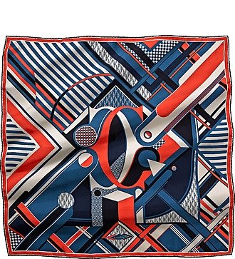 """Шелковый платок Cartier """"Строгая классика"""" (Франция, 90х90 см)"""
