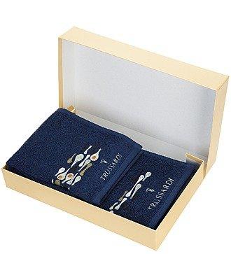 Комплект из 2-х полотенец TRUSSARDI