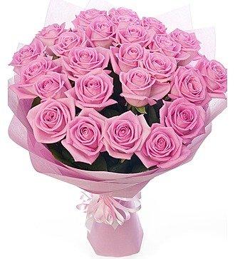 Букет из розовых роз (11, 19 или 25 роз)