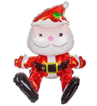 "Воздушный шар ""Сидячий Дед Мороз"" (51 см)"