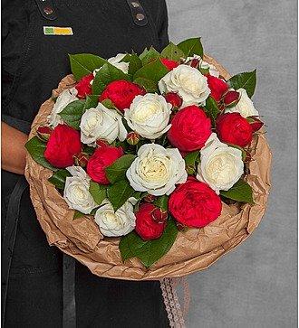 """Букет из пионовидных роз """"Вечность"""" (15, 25 или 51)"""