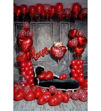 """Оформление шарами в стиле """"Любовь!"""""""