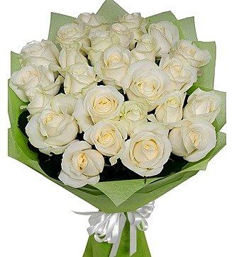 Букет из белых роз (11, 19 или 25 роз)