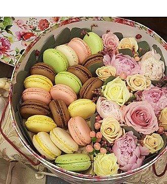 Коробка с цветами Цветочная мозаика
