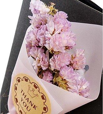 """Открытка с букетом из сухоцветов в подарочкой коробке """"Для тебя"""""""