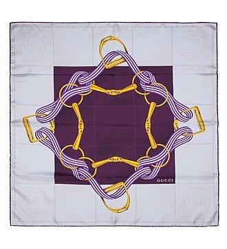 Шелковый платок GUCCI (Италия, 90х90 см)