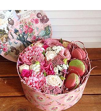 Коробка с цветами Розовое облачко
